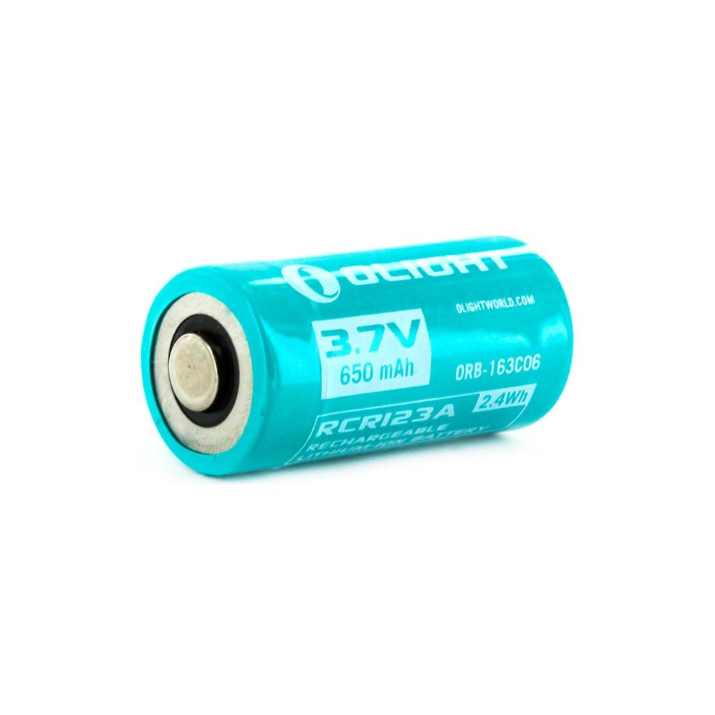 Аккумулятор Li-ion Olight ORB-163C06 16340 3,7 В. 650 mAh аккумулятор li ion olight orb 186p34 18650 3 7 в 3400 mah