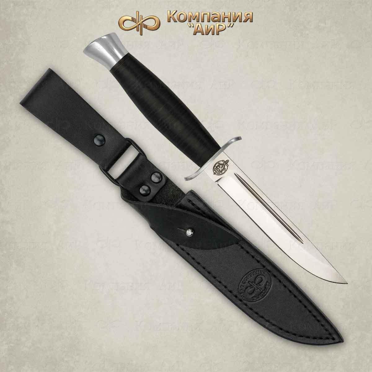 Нож АиР Финка-2, сталь ЭП-766, рукоять кожа электропривод тсс эп 2 2 220