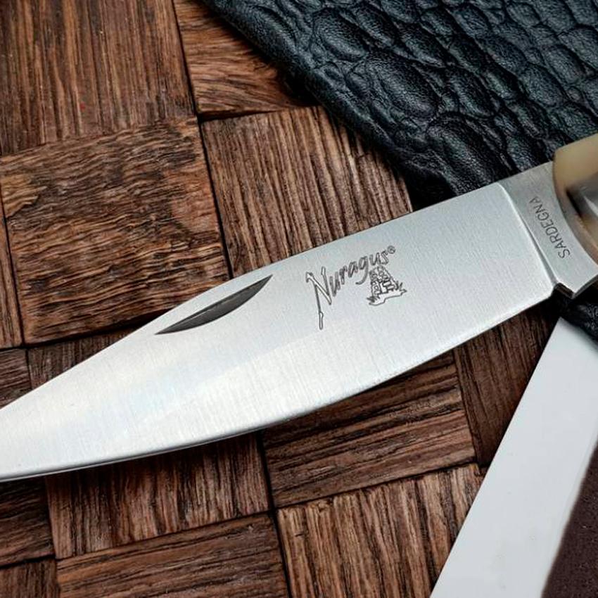 Фото 7 - Складной нож Fox NURAGUS, сталь 420C, рукоять рог, коричневый