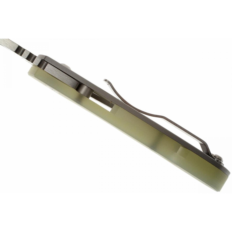 Фото 12 - Нож складной Leaf Storm Spyderco 128GP, сталь CPM S30V Satin Plain, рукоять титан/G10, зелёный