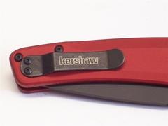 Полуавтоматический складной нож Launch 3 - Kershaw 7300RDBLK Red, сталь Crucible CPM® 154, рукоять анодированный алюминий, красный, фото 2