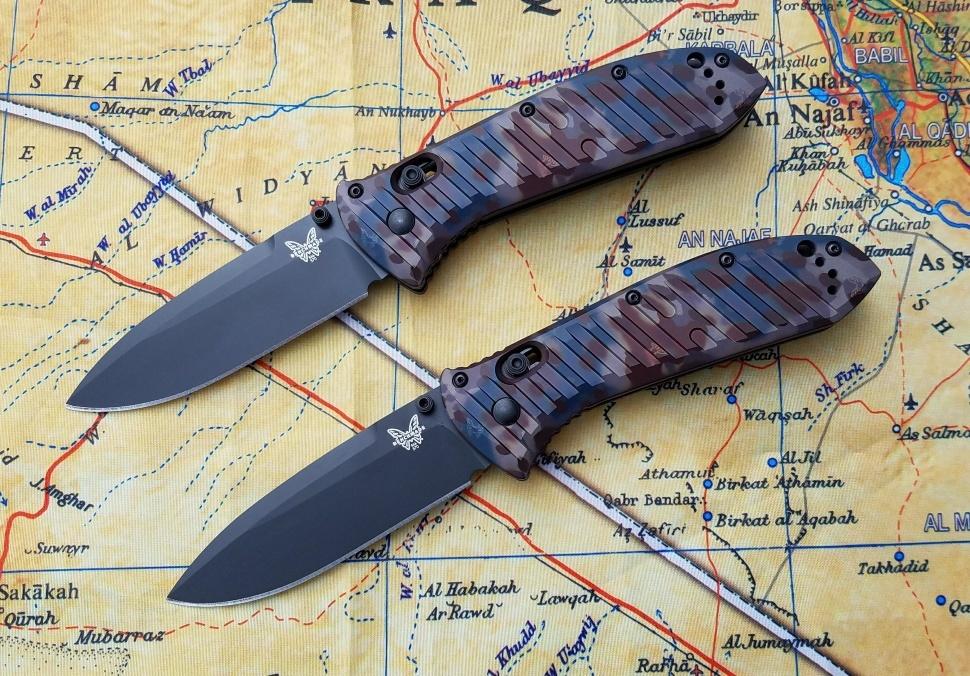 Фото 4 - Складной нож Benchmade 570BK-1801 Presidio II Rustic Butterfly Camo Limited Edition, сталь CPM-S30V, рукоять анодированный алюминий
