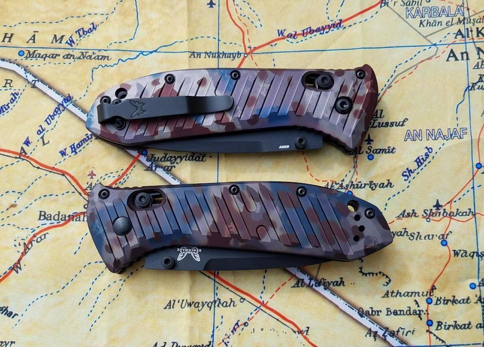 Фото 5 - Складной нож Benchmade 570BK-1801 Presidio II Rustic Butterfly Camo Limited Edition, сталь CPM-S30V, рукоять анодированный алюминий