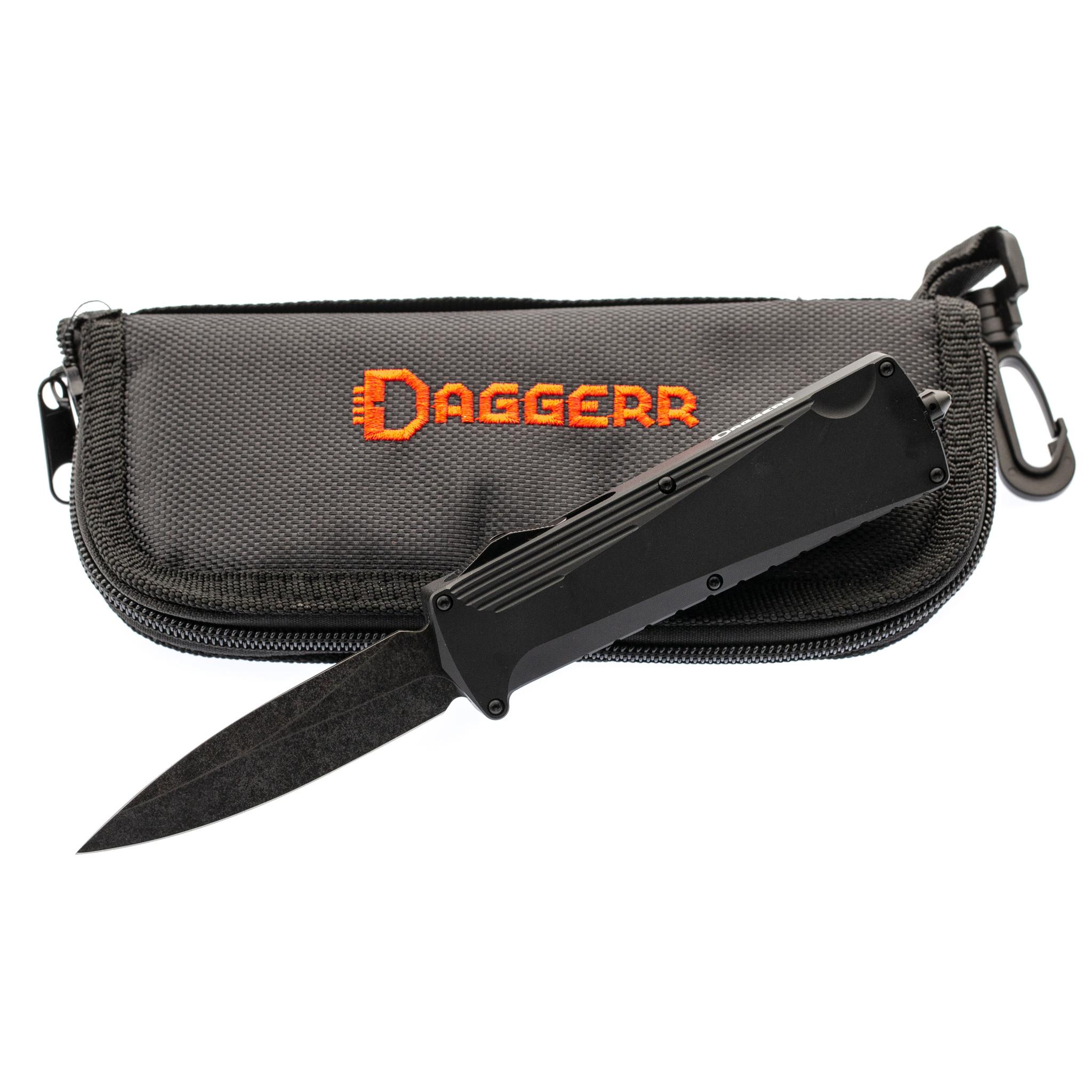 Автоматический нож Daggerr Koschei All Black (Кощей), сталь D2