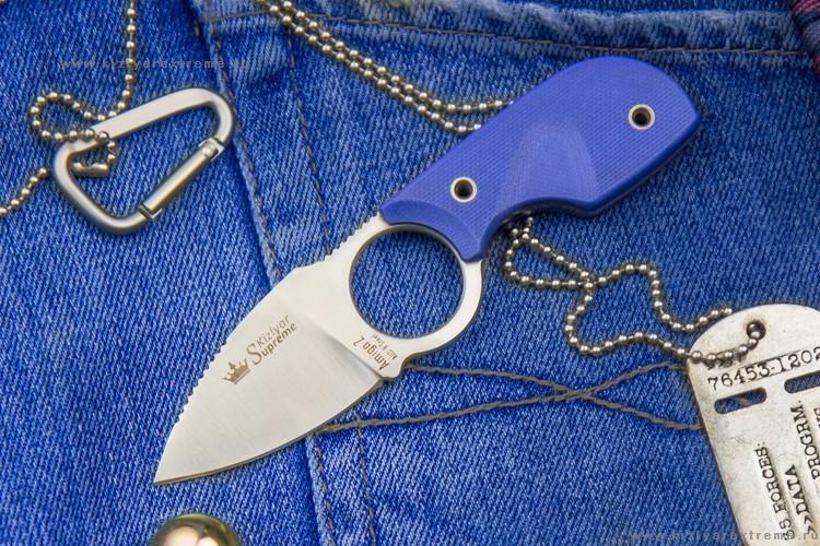 Шейный нож Amigo Z Aus-8 Satin, Kizlyar Supreme