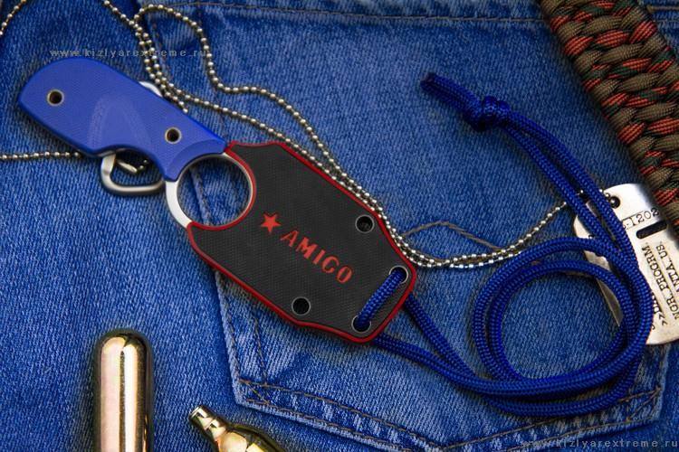 Фото 6 - Шейный нож Amigo Z Aus-8 S, Кизляр от Kizlyar Supreme
