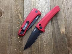 Полуавтоматический складной нож Launch 3 - Kershaw 7300RDBLK Red, сталь Crucible CPM® 154, рукоять анодированный алюминий, красный, фото 3