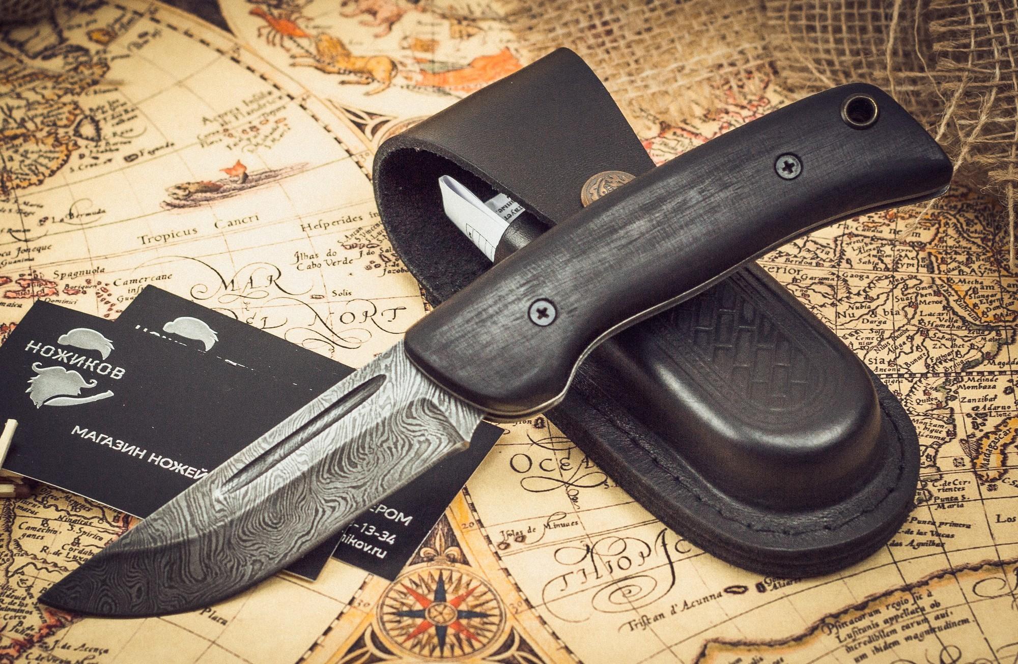 Фото 8 - Складной нож Морвин, дамаск, граб от Марычев