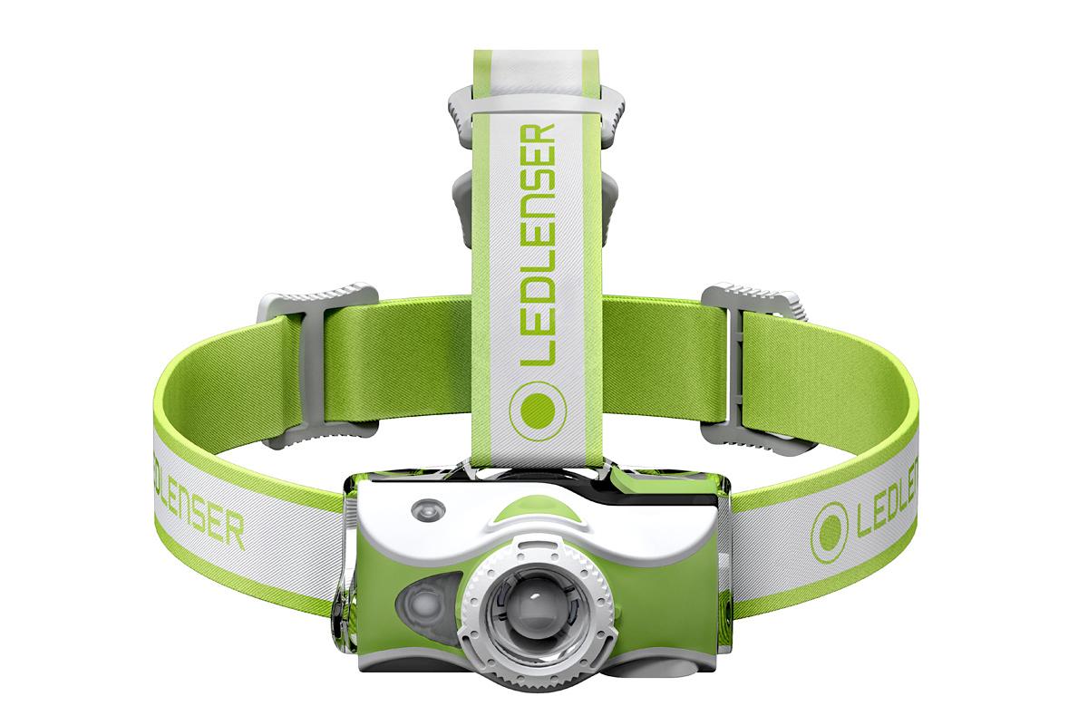 Фонарь светодиодный налобный LED Lenser MH7, зеленый, 600 лм, аккумулятор фонарь светодиодный налобный led lenser mh5 черный 400 лм аккумулятор