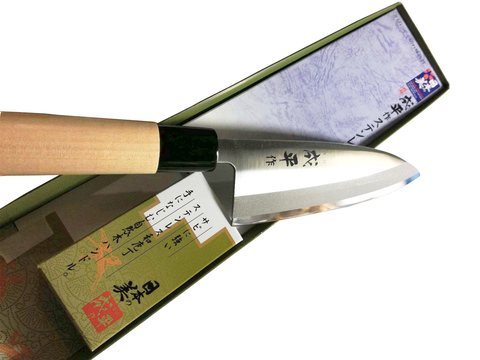 Нож Деба Narihira Tojiro, 180 мм, сталь AUS-8, рукоять дерево. Вид 5