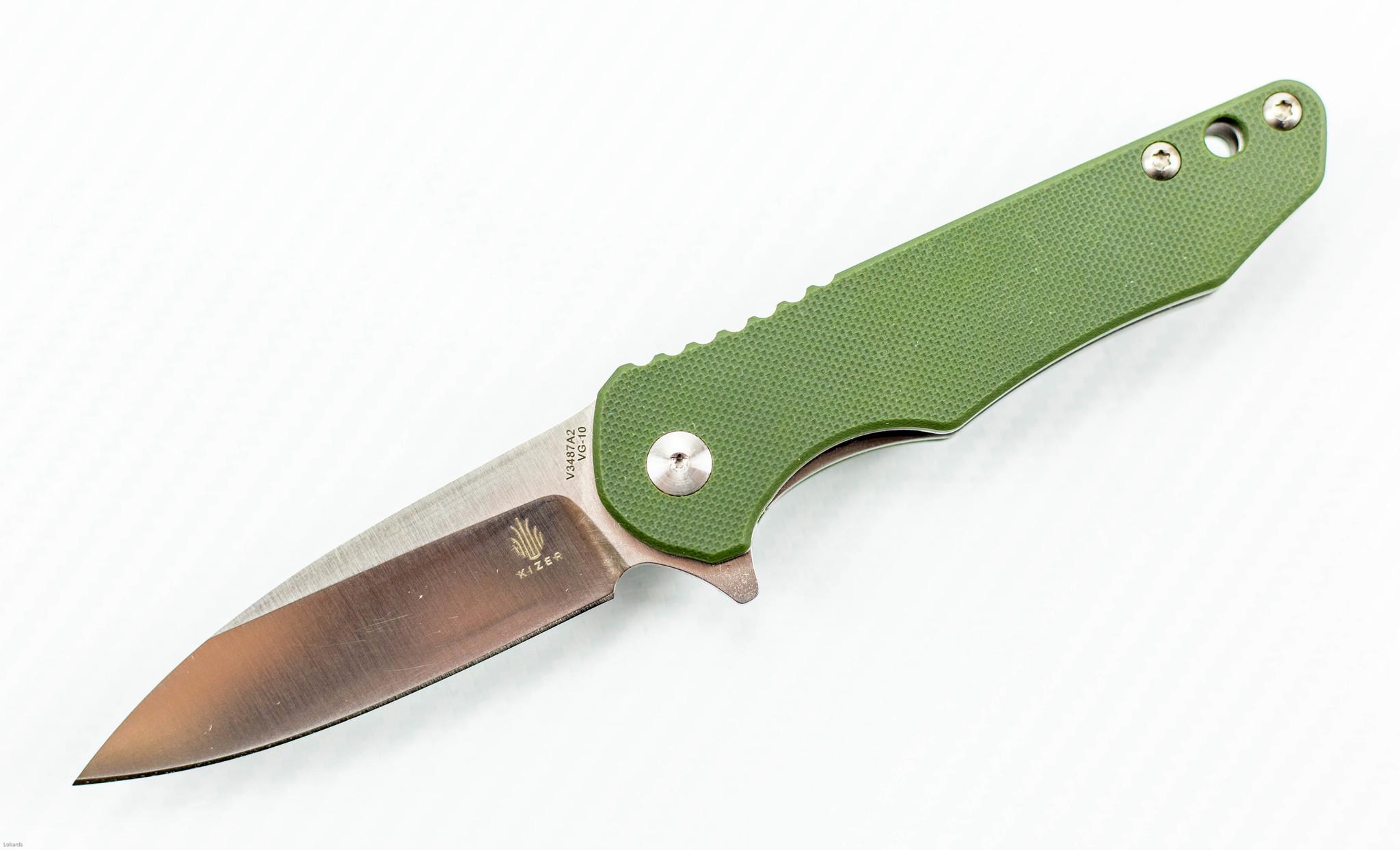 Складной нож Kizer Barbosa-2, сталь VG-10, рукоять G10