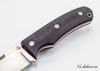 Нож Акула, M390, цельнометаллический, коричневая микарта - Nozhikov.ru
