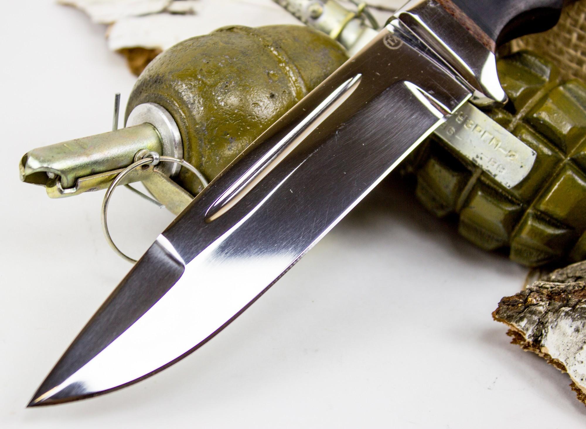 Фото 7 - Нож Солдат-1, сталь 95х18, граб от Титов и Солдатова