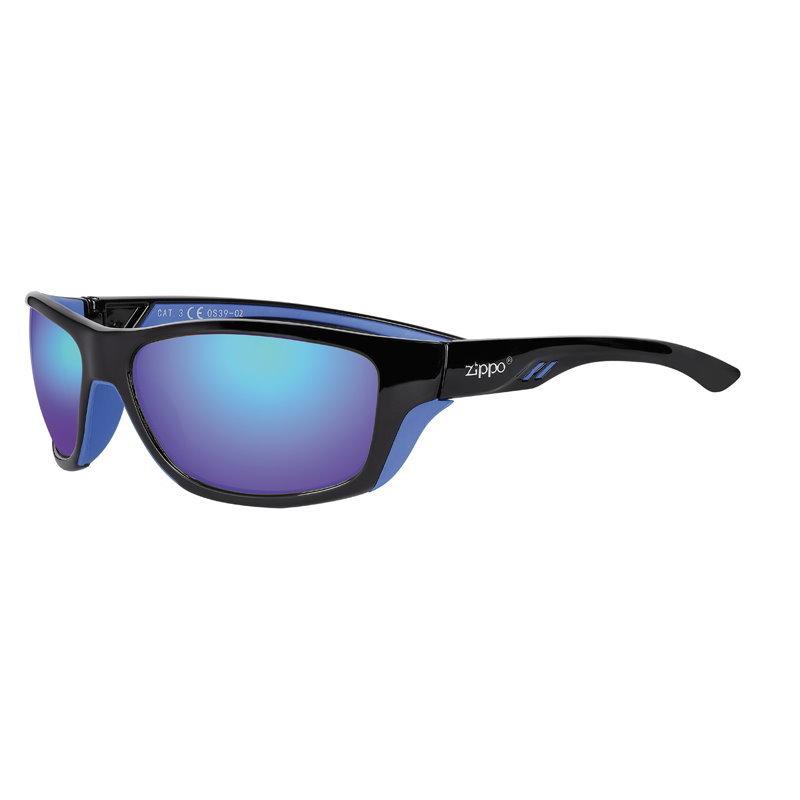 Фото - Очки солнцезащитные ZIPPO OS39-02 спортивные, унисекс, чёрные, оправа из поликарбоната очки солнцезащитные zippo ob70 01 унисекс чёрные оправа из поликарбоната