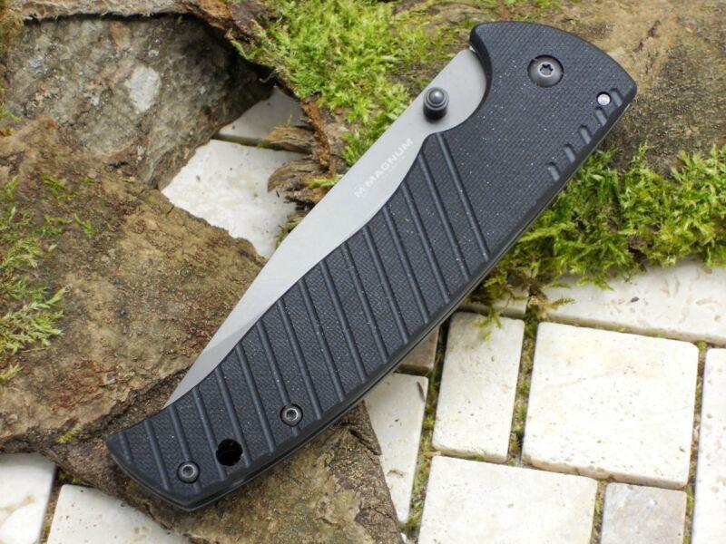 Фото 5 - Нож складной Boker Magnum Black Flash, сталь 440А Titanium Nitride Plain, рукоять нержавеющая сталь/стеклотекстолит G10, черный