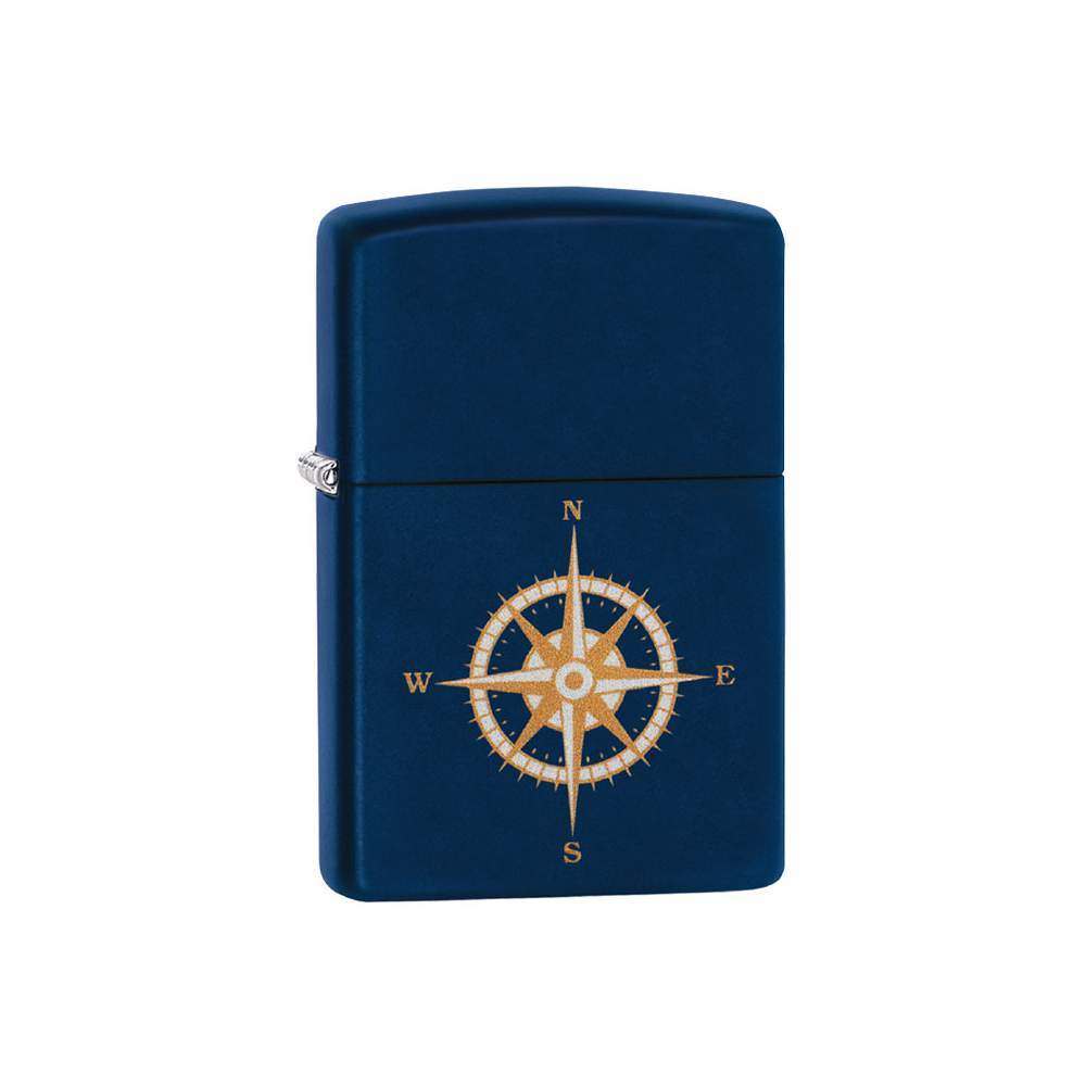 Зажигалка ZIPPO с покрытием Navy Matte, латунь/сталь, синий, матовая, 36x12x56 мм