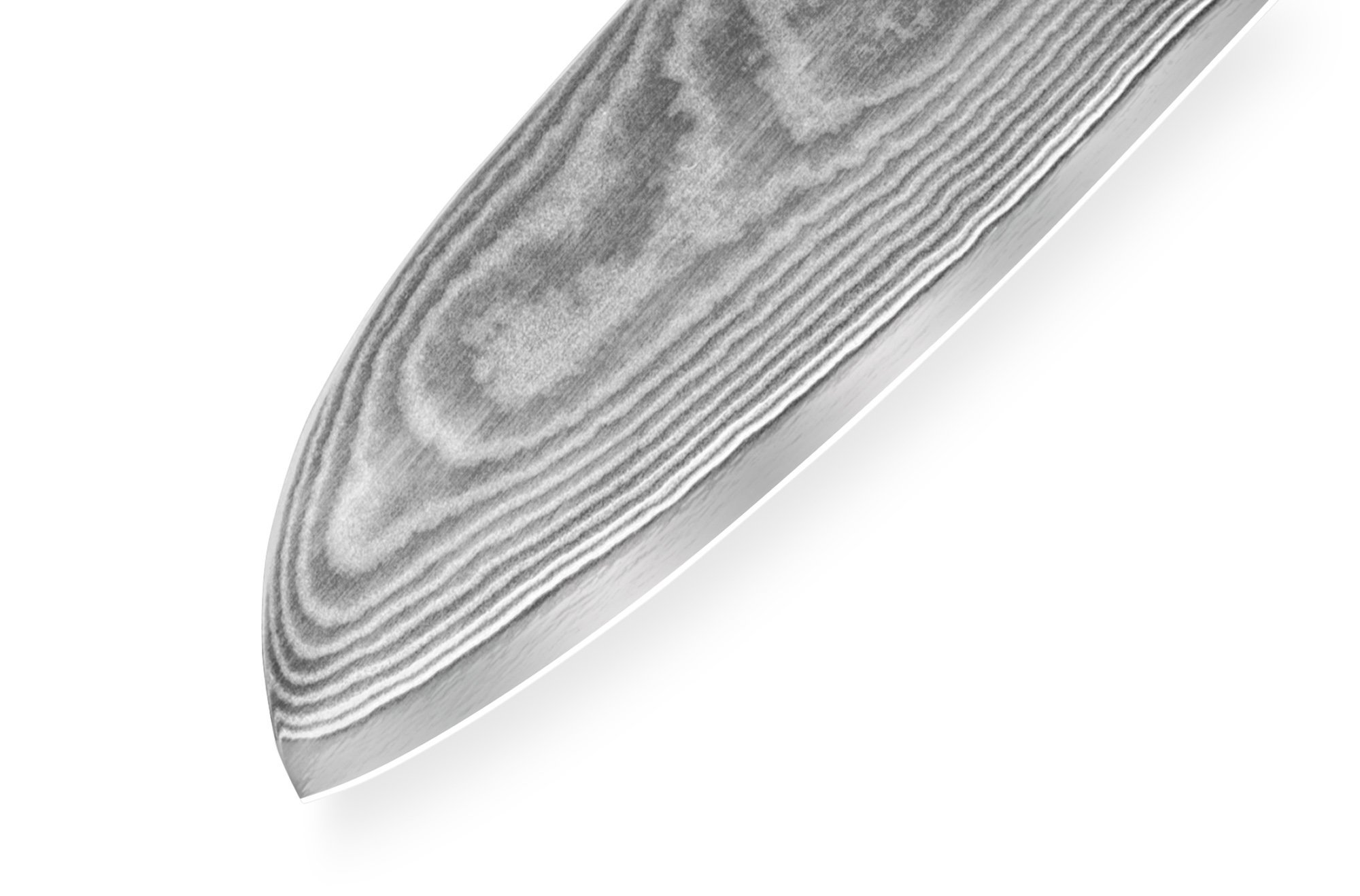 Фото 9 - Нож кухонный Сантоку Samura Damascus SD-0092/Y, сталь VG-10/дамаск, рукоять G-10