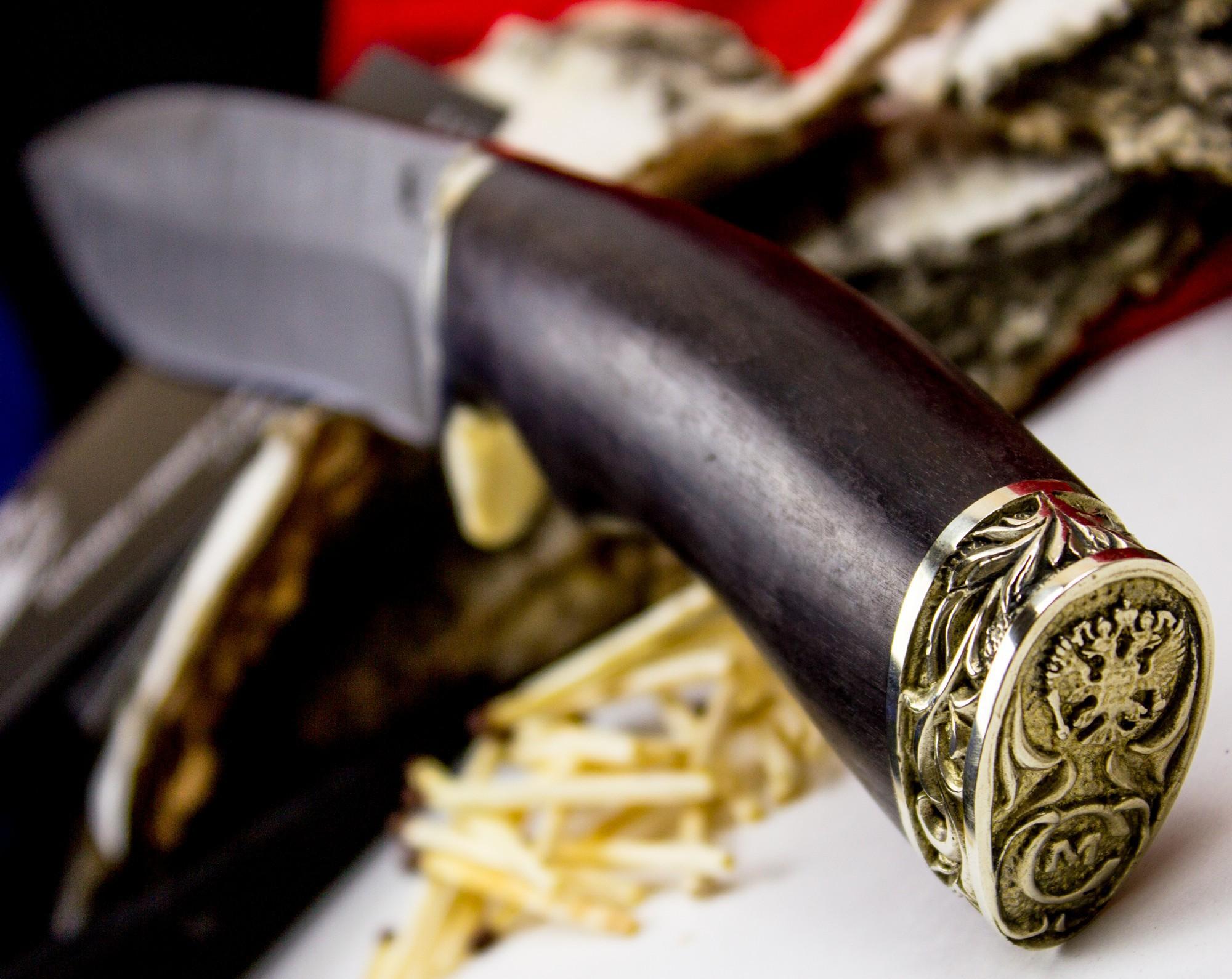 Фото 7 - Нож Скиф, дамасская сталь, рукоять граб от Кузница Семина