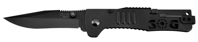 Фото 2 - Складной нож SlimJim Black - SOG SJ32, сталь AUS-8, рукоять сталь 420, чёрный