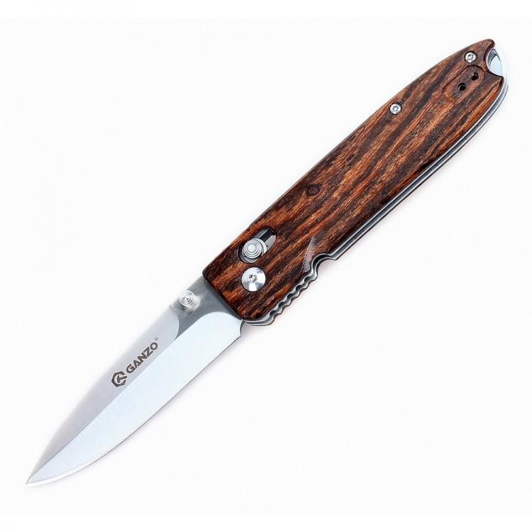 цена Нож складной Ganzo G746-1, светлое дерево онлайн в 2017 году