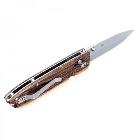 Нож складной Ganzo G746-1, светлое дерево. Вид 2