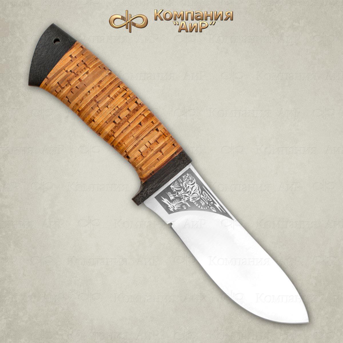 Нож разделочный Гепард, рукоять береста, АиР