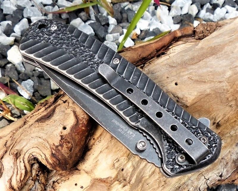 Фото 9 - Складной нож Starter KERSHAW 1301BW, сталь 4Cr14 с покрытием BlackWash™, рукоять нержавеющая сталь
