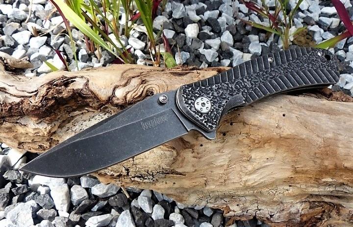 Фото 4 - Складной нож Starter KERSHAW 1301BW, сталь 4Cr14 с покрытием BlackWash™, рукоять нержавеющая сталь