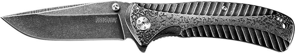 Фото 10 - Складной нож Starter KERSHAW 1301BW, сталь 4Cr14 с покрытием BlackWash™, рукоять нержавеющая сталь