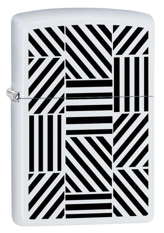 Зажигалка ZIPPO 214 Abstract с покрытием White Matte