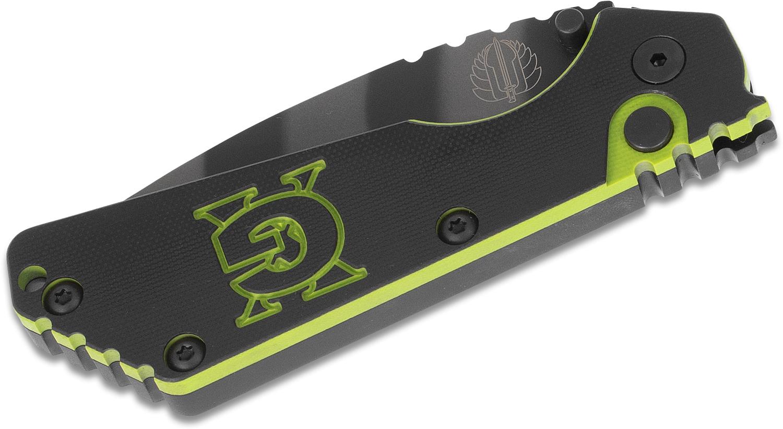Фото 4 - Автоматический складной нож Pro-Tech Pro-Strider SnG Auto USN GX Custom Tiger Stripe, сталь 154CM, рукоять алюминий, черно-зеленый