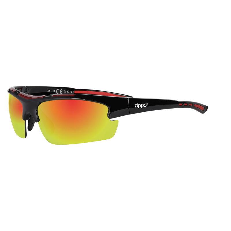 Фото - Очки солнцезащитные ZIPPO OS37-01 спортивные, унисекс, чёрные, оправа из поликарбоната очки солнцезащитные zippo ob70 01 унисекс чёрные оправа из поликарбоната