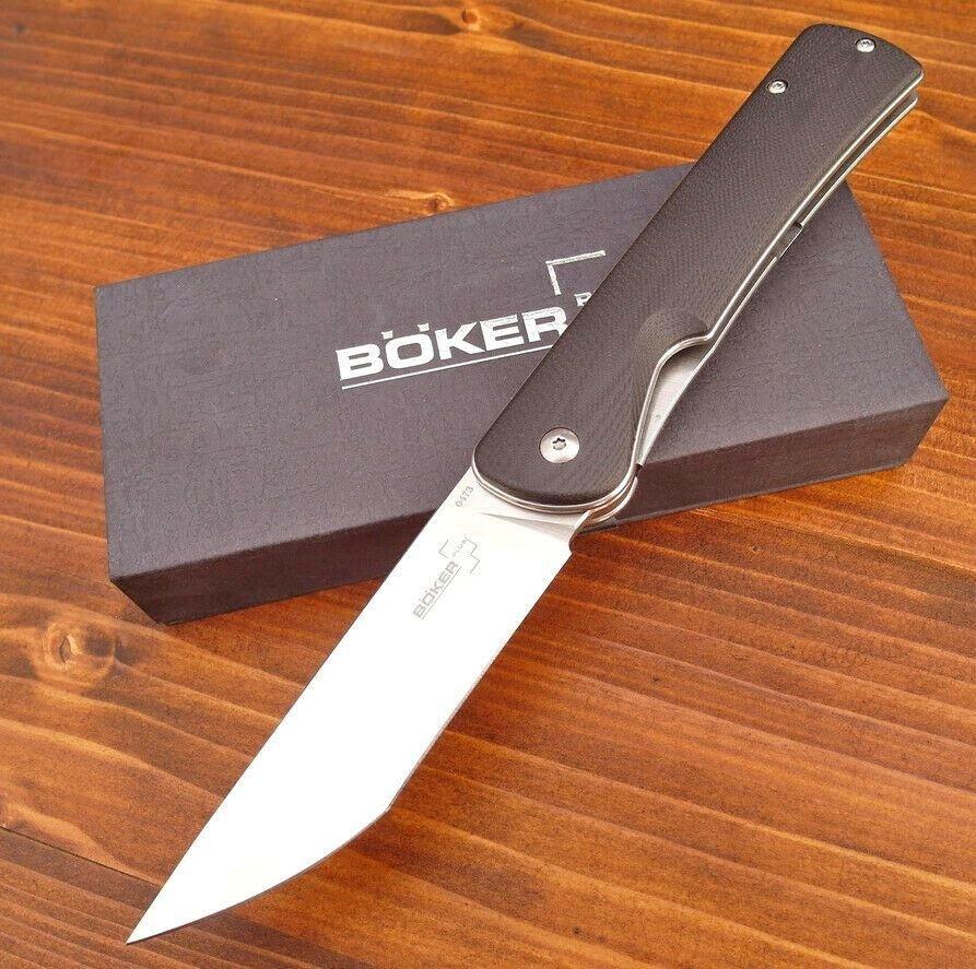 Фото 2 - Нож складной Boker Plus Komusubi, сталь 440C Satin Plain, рукоять стеклотекстолит G10, 01BO258