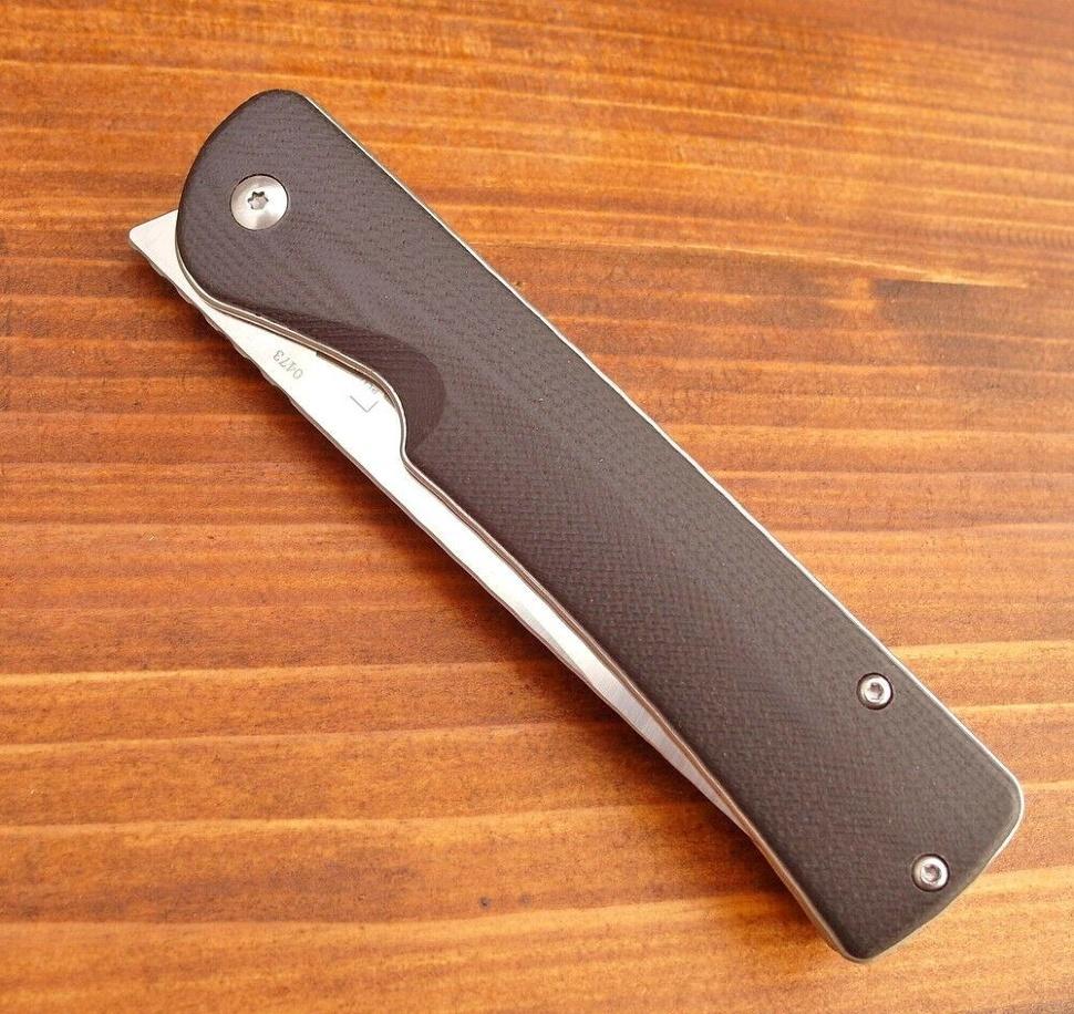 Фото 4 - Нож складной Boker Plus Komusubi, сталь 440C Satin Plain, рукоять стеклотекстолит G10, 01BO258