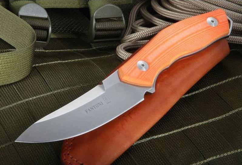 Фото 7 - Нож с фиксированным клинком Fantoni, C.U.T. Fixed, FAN/CUTFxSwOrLBk, сталь CPM-S30V, рукоять cтеклотекстолит G-10, оранжевый