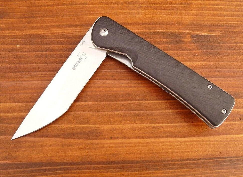 Фото 5 - Нож складной Boker Plus Komusubi, сталь 440C Satin Plain, рукоять стеклотекстолит G10, 01BO258