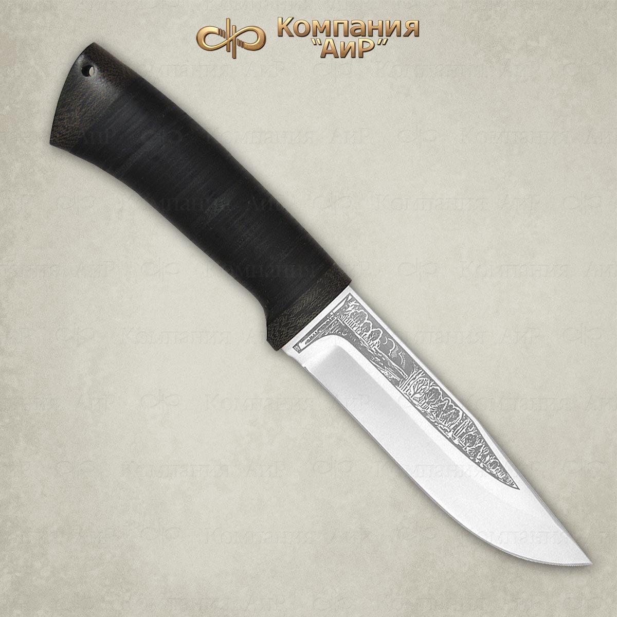 Фото - Нож АиР Турист, сталь 110х18 М-ШД, рукоять кожа нож аир хазар сталь 110х18 м шд рукоять кожа