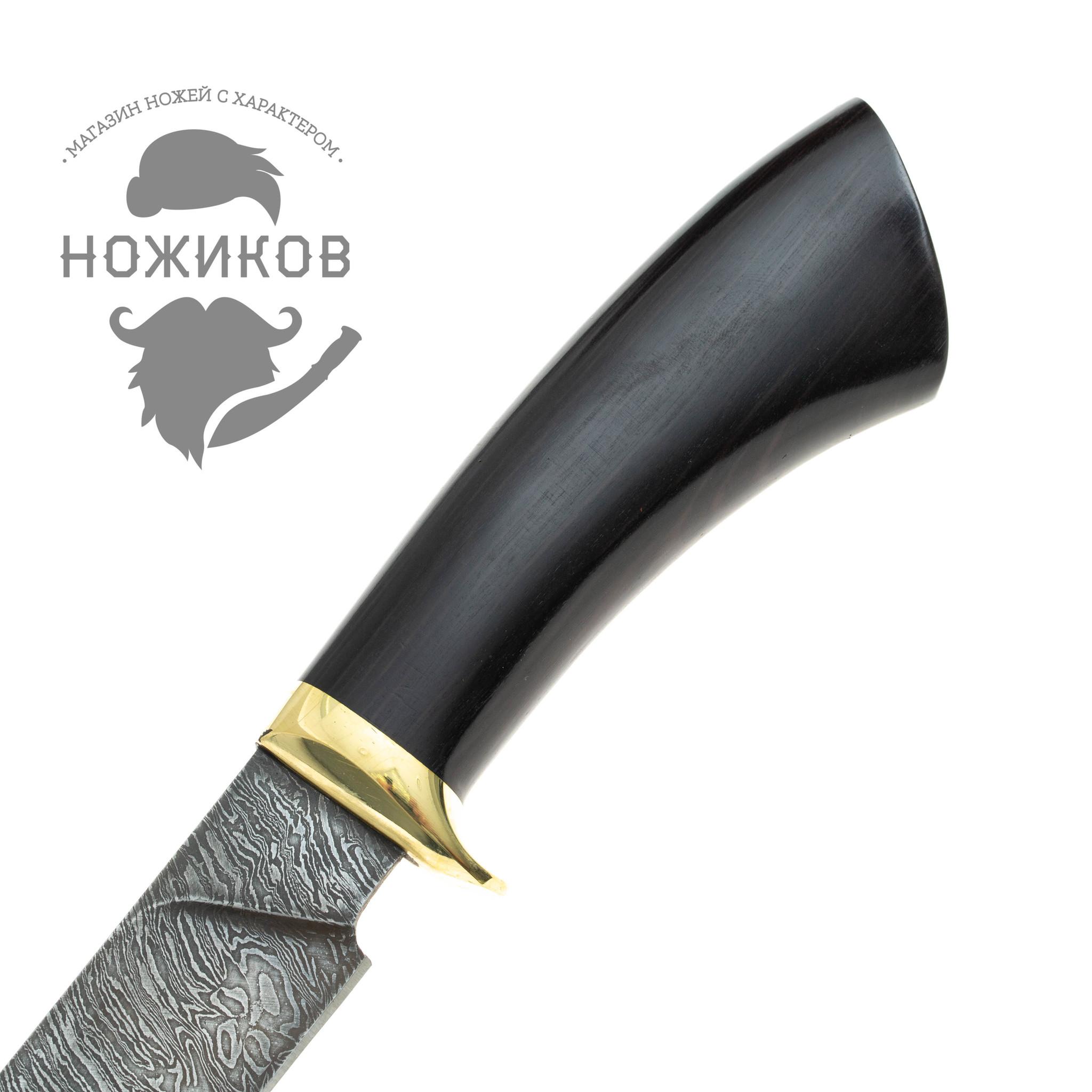 Фото 11 - Нож Чингизхан, дамасская сталь от Промтехснаб
