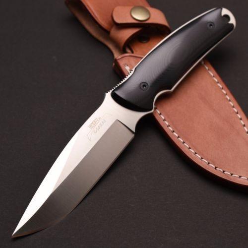 Туристический нож G.Sakai, Green Hunter Fixed, сталь VG-10, черный micarta, в подарочной картонной коробке