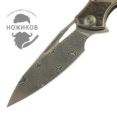 Нож складной RK1902-R от Rike, сталь Damasteel, фото 2