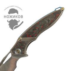 Нож складной RK1902-R от Rike, сталь Damasteel, фото 3