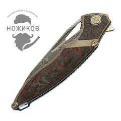 Нож складной RK1902-R от Rike, сталь Damasteel, фото 7