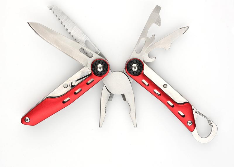 Фото 2 - Мультитул Stinger, сталь (красный), 10 инструментов, нейлоновый чехол, коробка картон