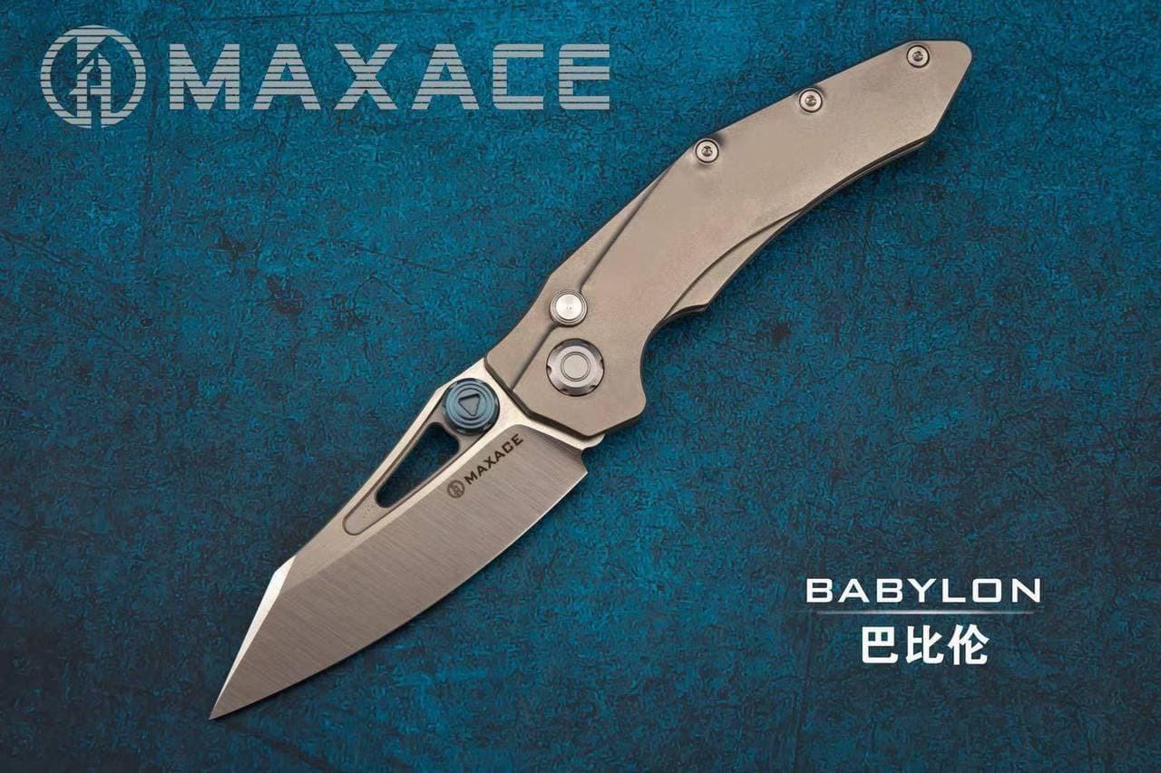 Складной нож Maxace Babylon, сталь Bohler M390
