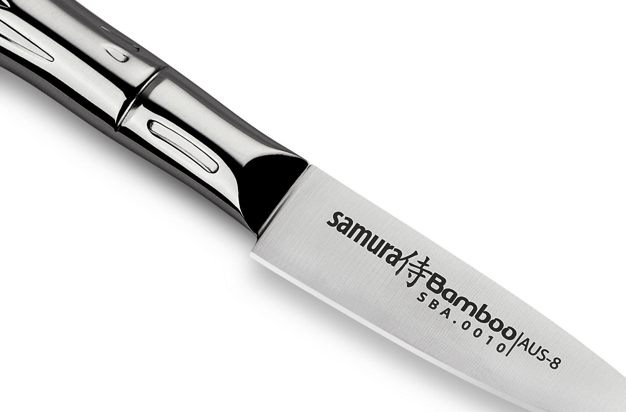Фото 3 - Нож кухонный овощной Samura Bamboo SBA-0010/Y, сталь AUS-8