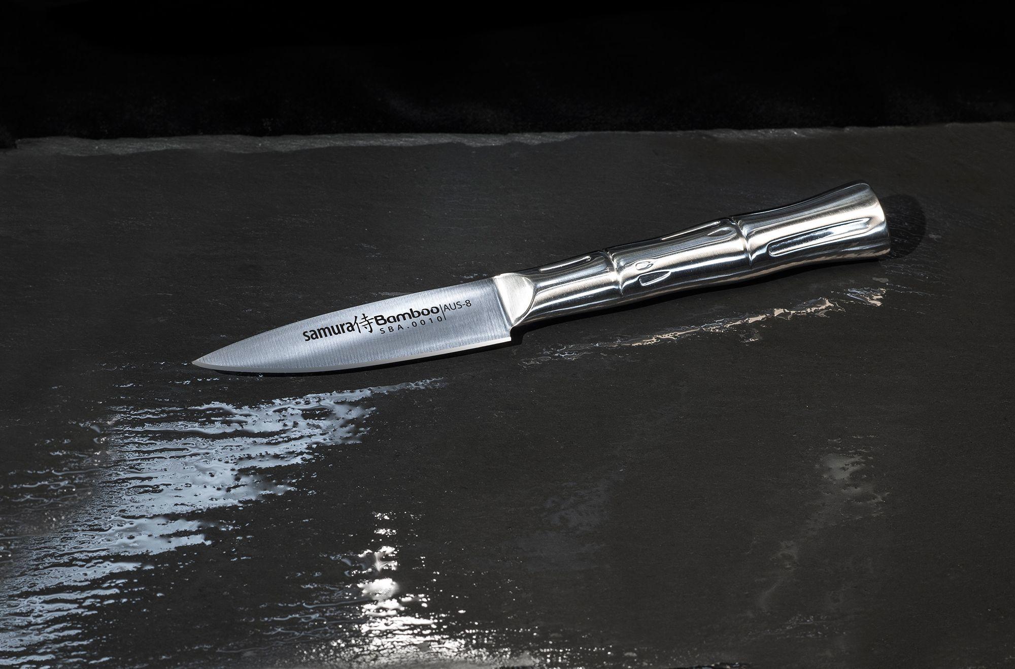 Фото 7 - Нож кухонный овощной Samura Bamboo SBA-0010/Y, сталь AUS-8