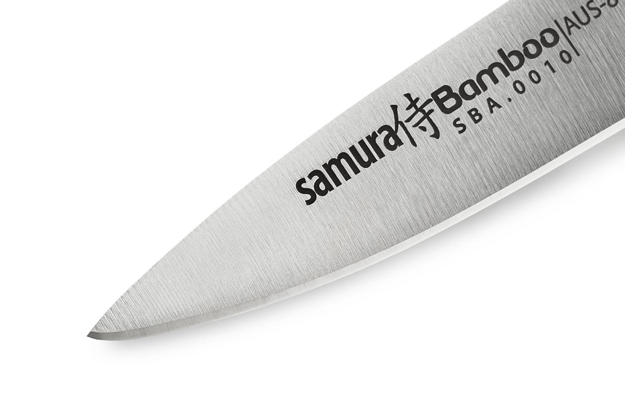 Фото 8 - Нож кухонный овощной Samura Bamboo SBA-0010/Y, сталь AUS-8