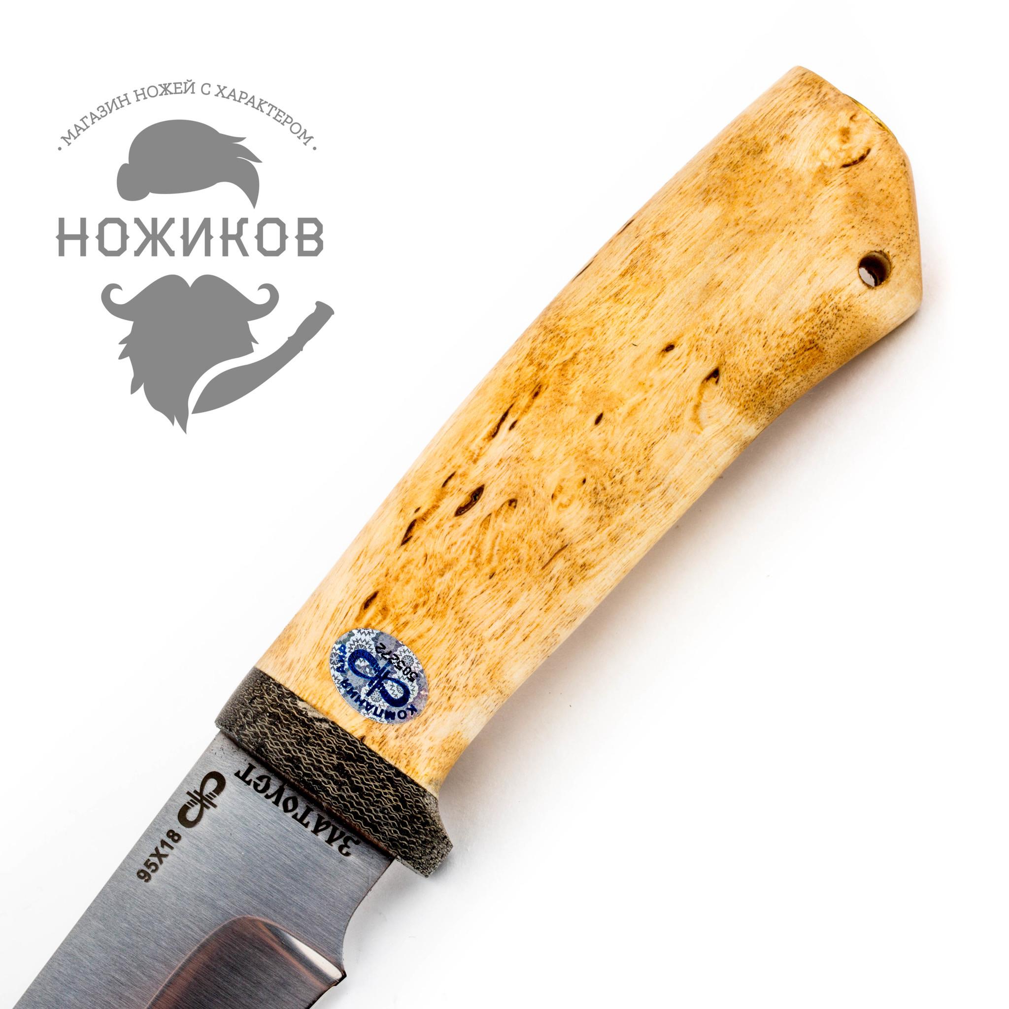 Фото 3 - Нож Стрелец, карельская береза, 95х18 от АиР