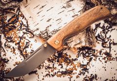 Складной нож Валдай, сталь 95х18, орех