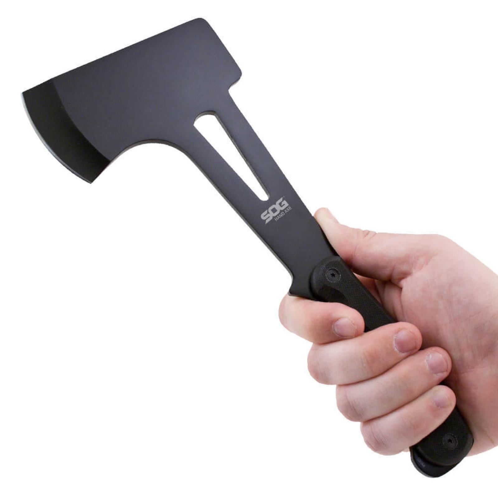 Фото 4 - Топор туристический Hand Axe - SOG F09, сталь 420 Black Oxide, рукоять G10, чёрный